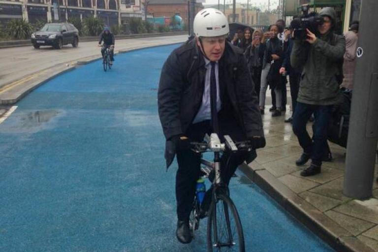 Boris Johnson on CS2 extension Nov 2013 (source MayorofLondon on Twitter)