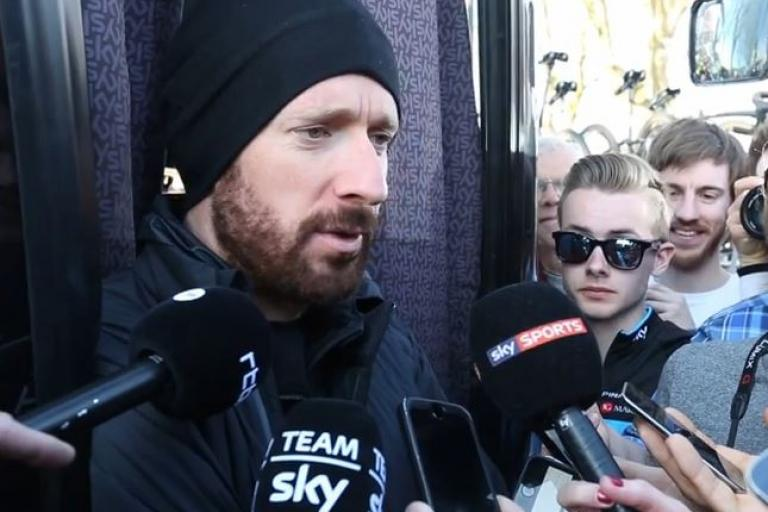 Bradley Wiggins after Paris-Roubaix 2015 (Team Sky YouTube still)