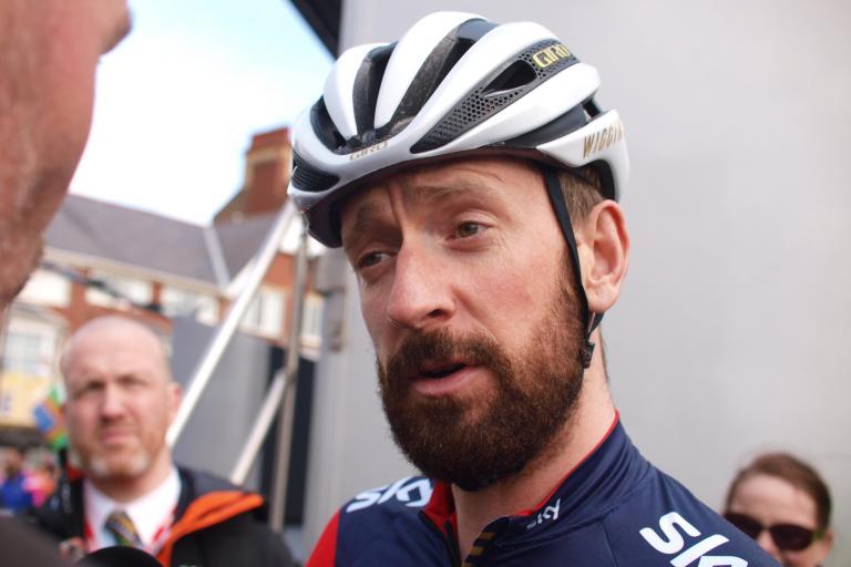 Bradley Wiggins at start of Tour de Yorkshire 2015