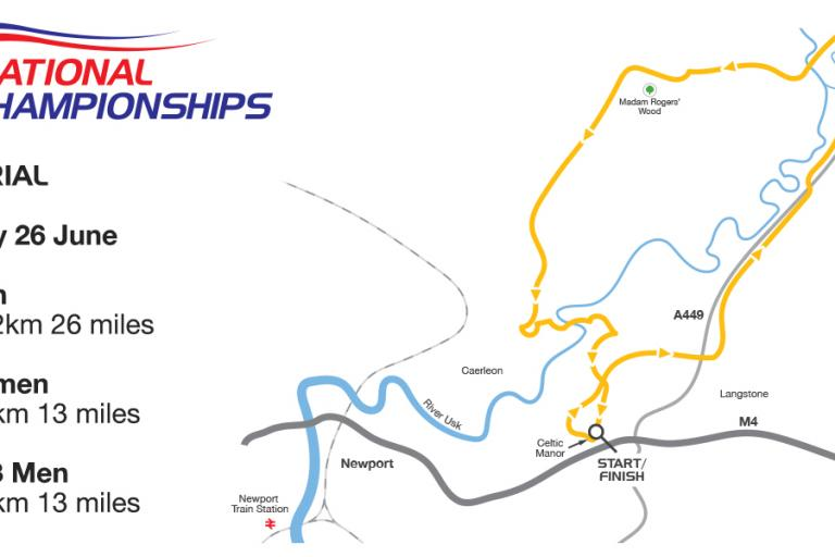 British Cycling National Road Championships TT course 2014