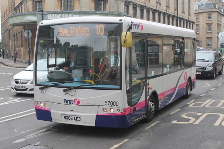 Bus in Bath