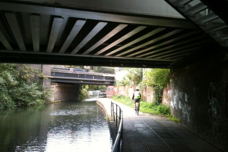 Canal Bridge and Cyclist (copyright Simon MacMichael)