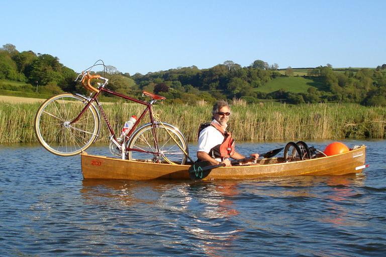 Charity cycle and canoe