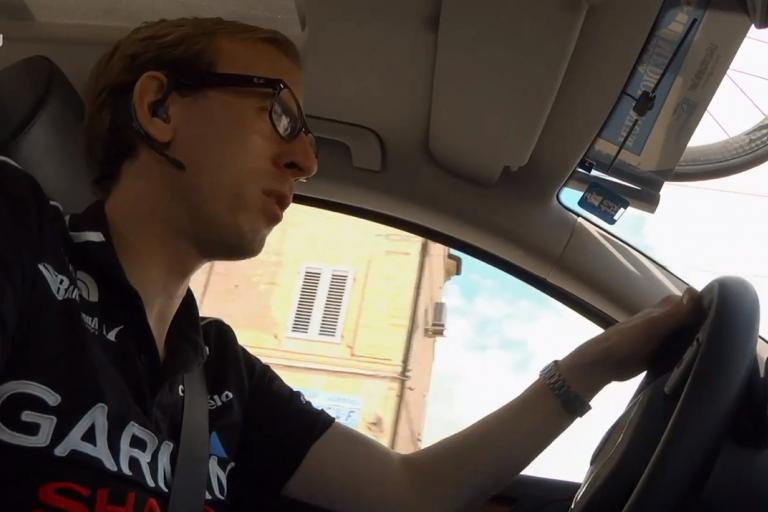 Charly Wegelius at Tirreno YouTube still