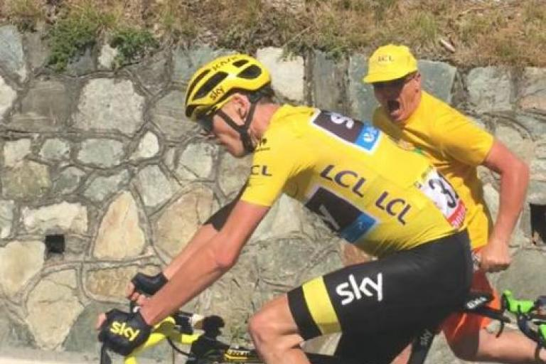 Chris Froome on Alpe d'Huez (picture copyright Anne Martin)