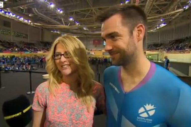 Chris Pritchard and fiancee Amanda Ball (BBC video still)