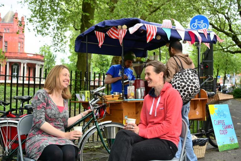 Copenhagen Bike Cafe in Manchester (picture Jon Bewley, Sustrans)
