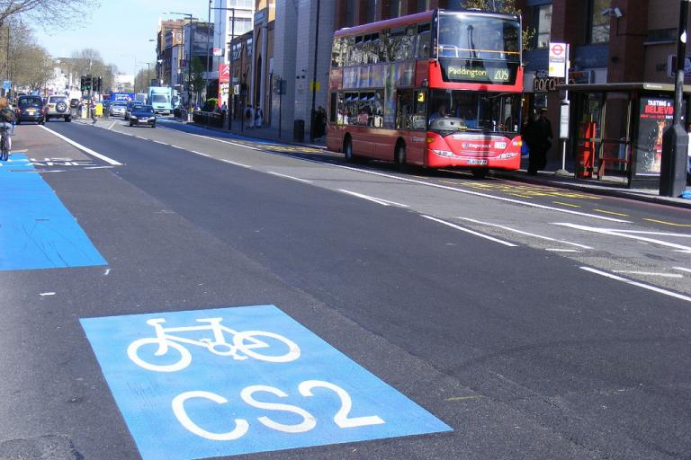 Cycle Superhighway 2 CC licensed by by sludgegulper:Flickr)