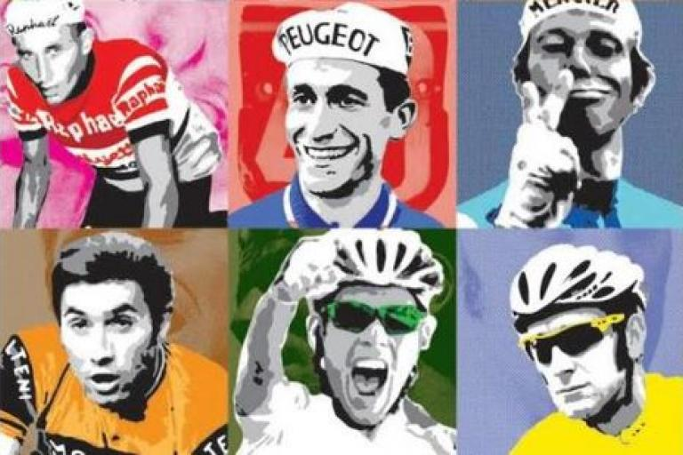 Cycling icons stencils by James Straffon