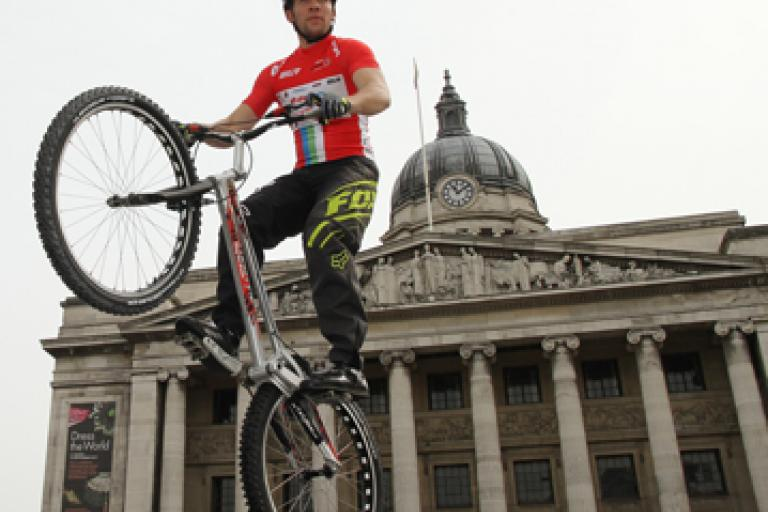 Danny Butler launches E ON Cycle Live Nottingham (picture Perfect Motion)