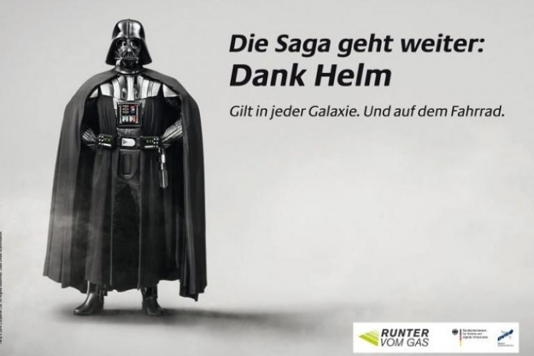 Darth Vader cycle helmet poster