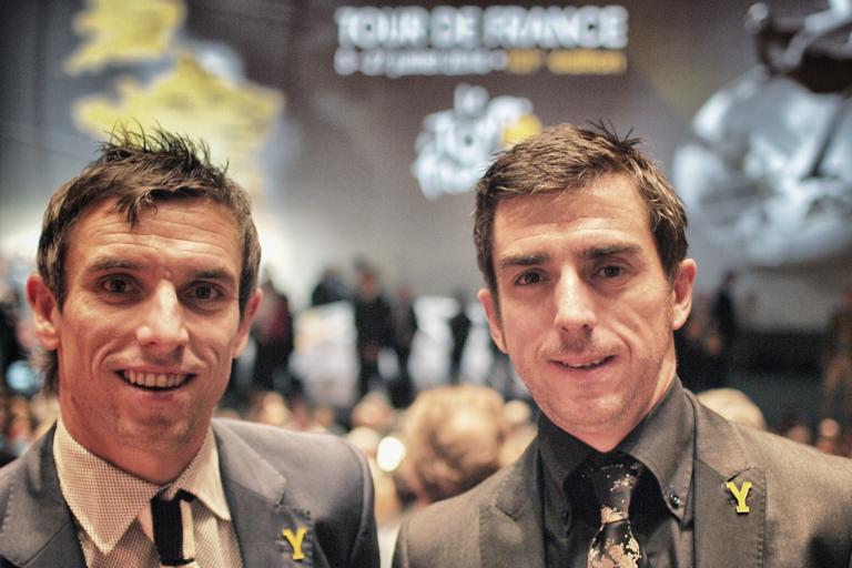 Dean and Russ Downing TDF Paris (copyright Simon MacMichael)