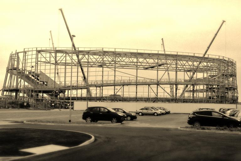 Derby Velodrome takes shape (source Flickr Creative Commons)