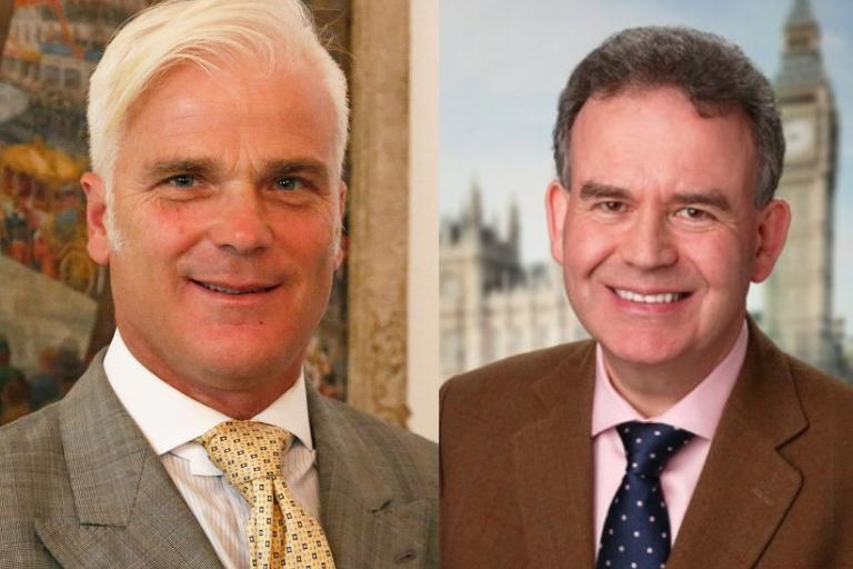 Desmond Swayne MP and Dr Julian Lewis MP (Wikimedia Creative Commons:The Climate Coalition (UK) Flickr)