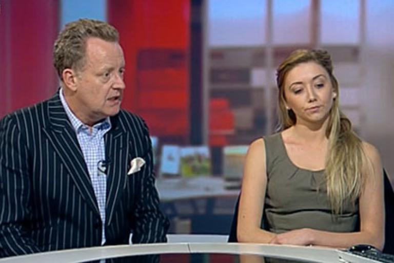 Emma Way on BBC breakfast