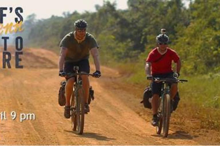 Freddie Flintoff and Robert Penn on the Trans-Amazonian Highway