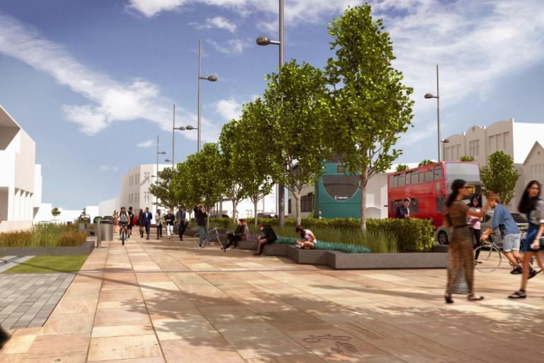 Frideswide Square artist impression