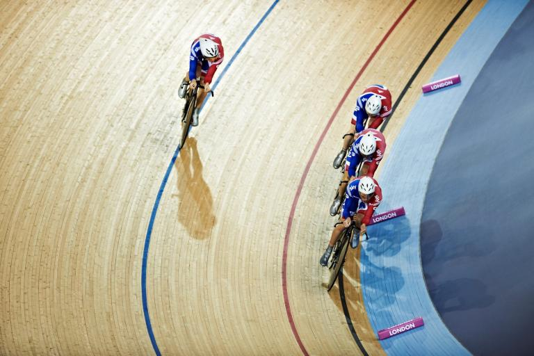 GB Men's Team Pursuit at London Track World Cup 2012 (copyright britishcycling.org.uk)