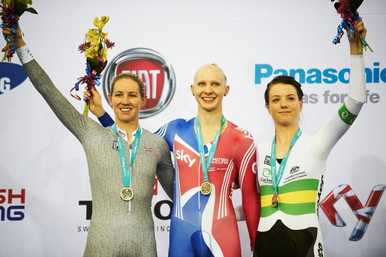 GB's Joanna Rowsell takes IP gold at London TWC (copyright britishcycling.org.uk)
