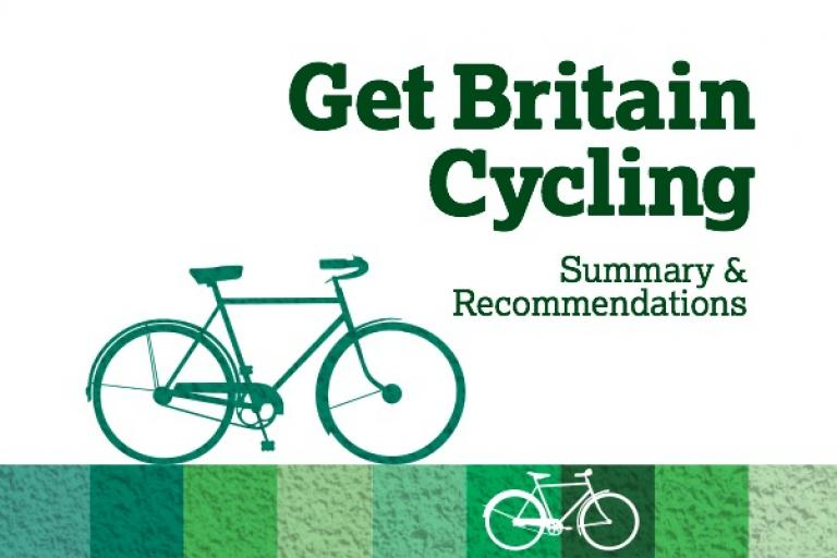Get Britain Cycling report cover