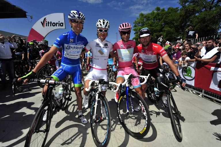 Giro 2013 jersey winners (picture - RCS Sport)