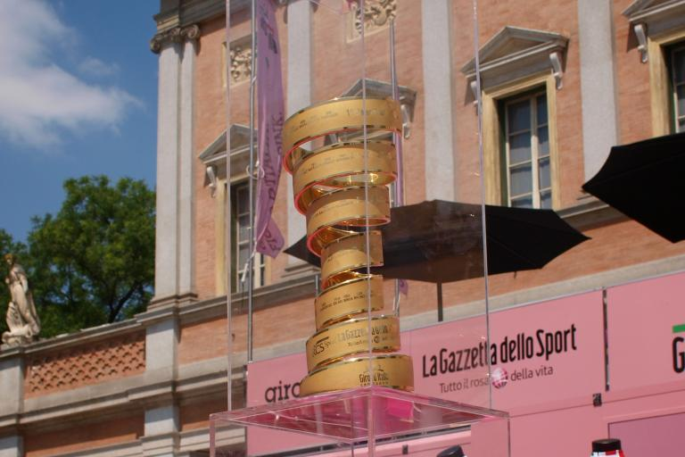 Giro d Italia jerseys and trophy copyright Simon MacMichael .jpg