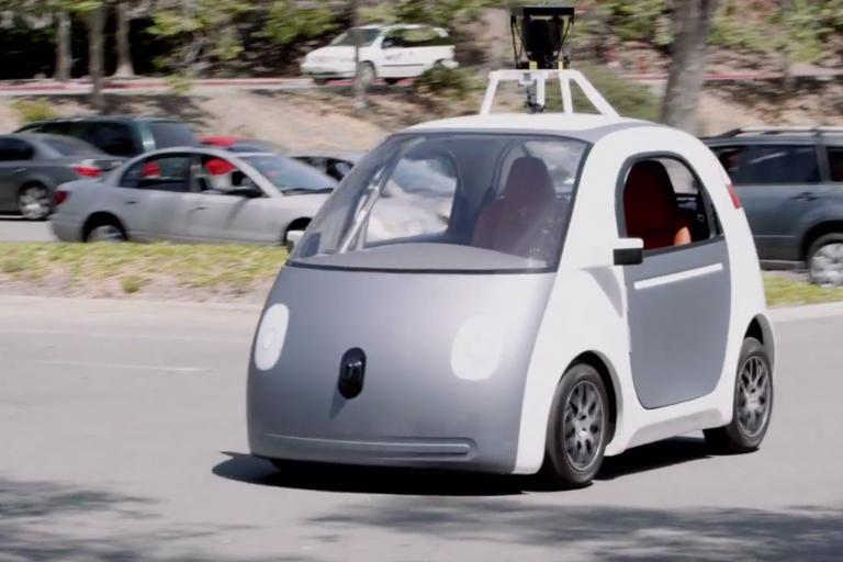 Google's self-driving car prototype (image via Youtube)