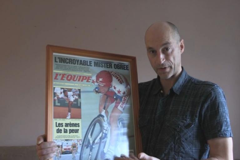 Graeme Obree with L'Equipe Cromalin YouTube still