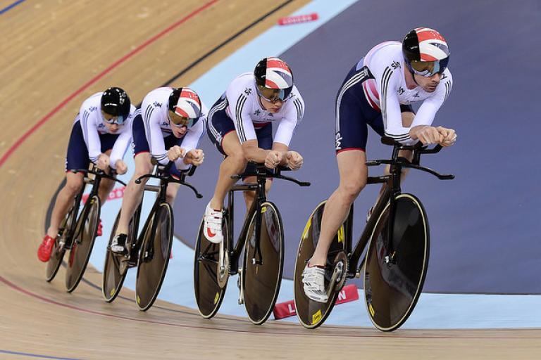 Great Britain Men's Team Pursuit, London World Cup 2014 (picture Alex Broadway, SWPix.com)