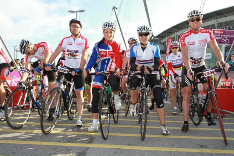 Great Manchester Cycle - Dean Andrews, Lizzie Armitstead, Rebecca Romero and Geoff Thomas