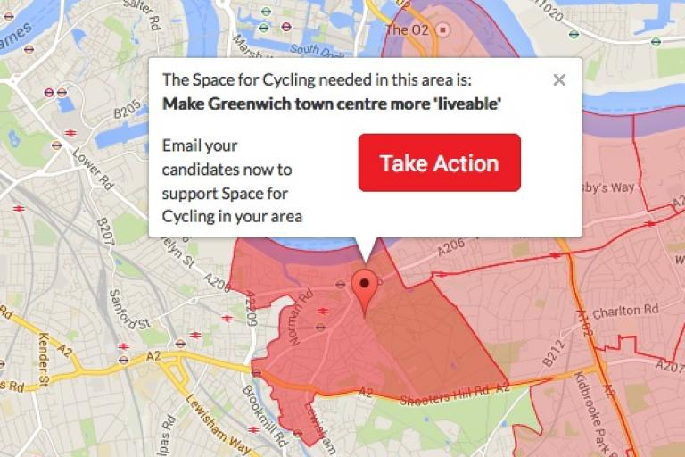 Greenwich West Space For Cycling