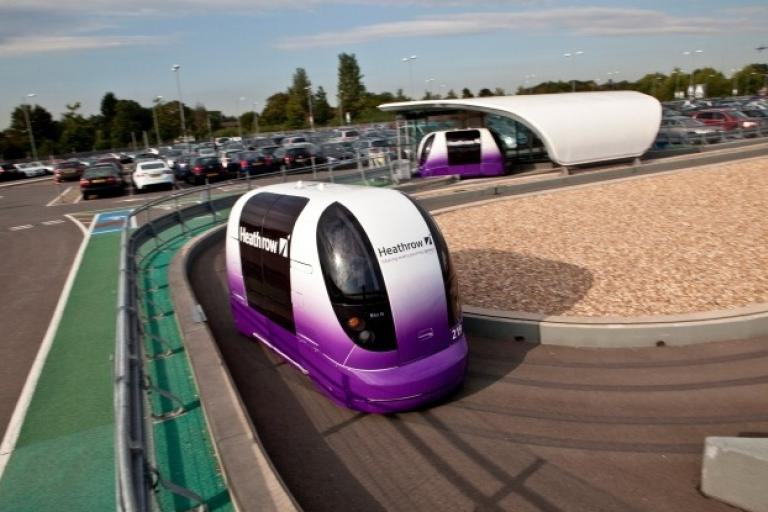 Heathrow Airport Personal Rapid Transport pods (picture- Ultra Global PRT)