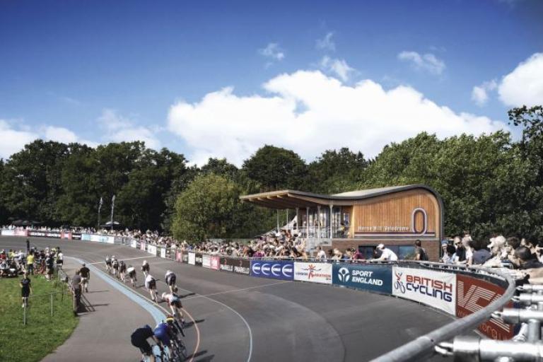 Impression of Herne Hill Velodrome Pavilion (source Herne Hill Velodrome Trust)