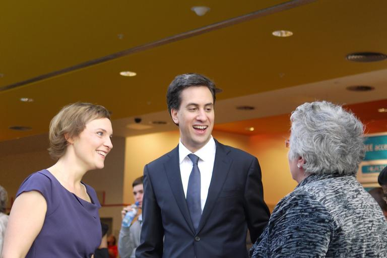 Justine Thornton and Ed Miliband (CC BY 2.0 NCVO London:Flickr)