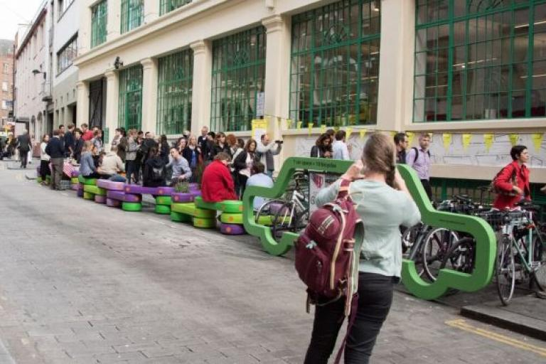 Launch of Street Kit (pic via Sustrans)