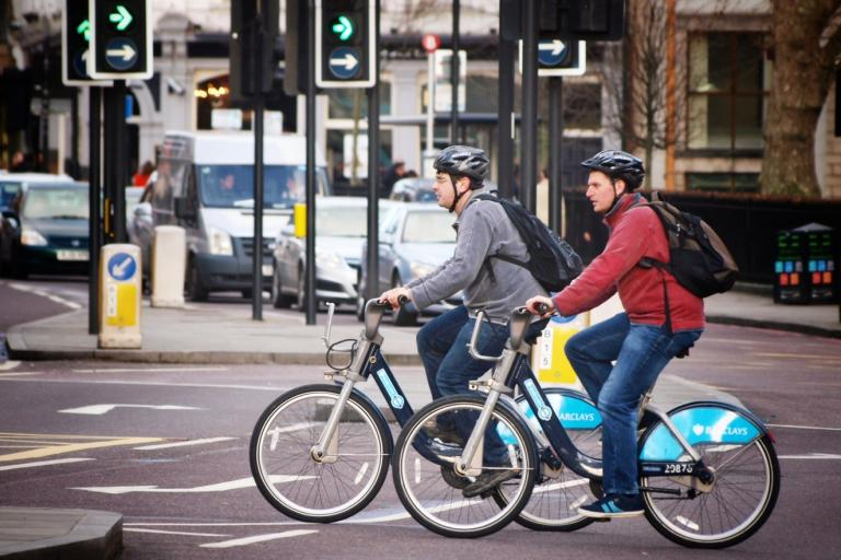 London Cycle Hire Scheme users (copyright Simon MacMichael)