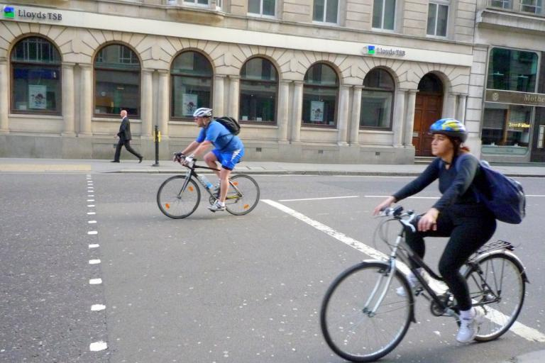 London cyclists (CC licensed by Ambernectar 13:Flickr)