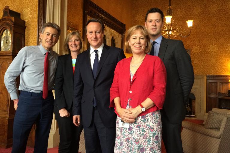 MPs Ben Bradshaw, Dr Sarah Wollaston, Ruth Cadbury and Alex Chalk meet David Cameron (picture courtesy APPCG)