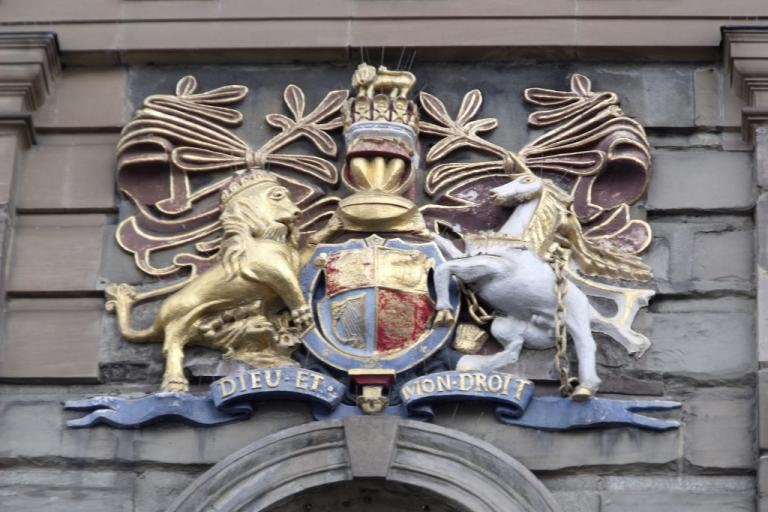 Magistrates court coat of arms (CC BY 2.0 licensed by Elliot Brown:Flickr)