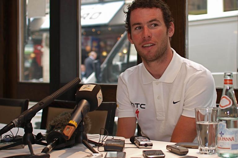 Mark Cavendish pre TDF press conference 2011.jpg
