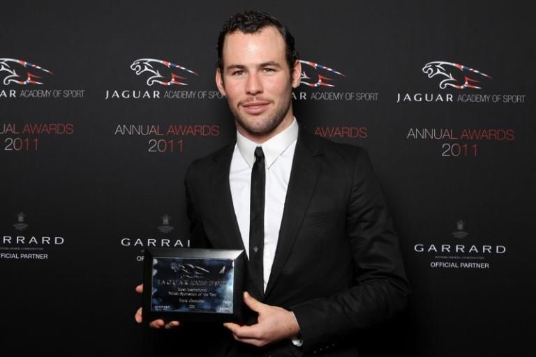 Mark Cavendish with Jaguar Academy of Sport Award