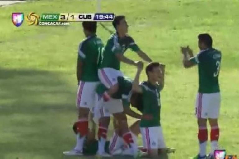Mexico football celebrations