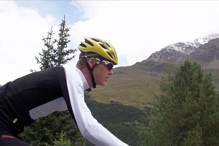 Mike Cotty on the Passo Gavia