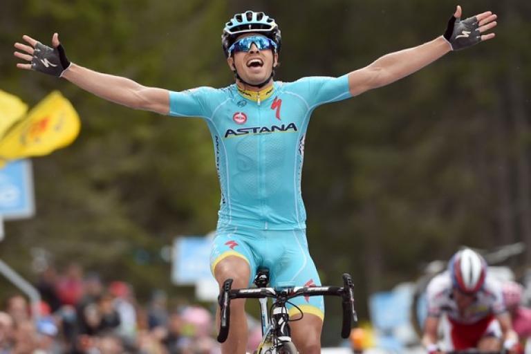 Mikel Landa wins 2015 Giro d'Italia Stage 15 (picture ANSA, Dal Zennaro)