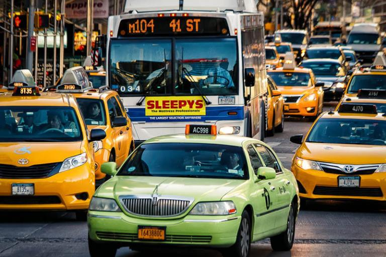 NYC Taxi Cabs (CC licensed image by Kevin Case:Flickr)