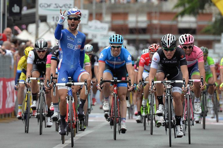Nacer Bouhanni wins 2014 Giro Stage 7 - picture credit LaPresse