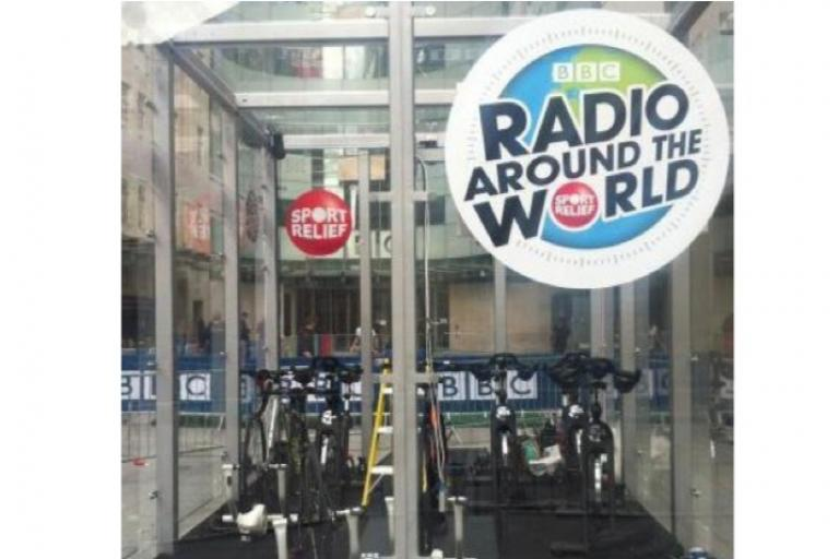 Nick Grimshaw's Sport Relief cycle box_