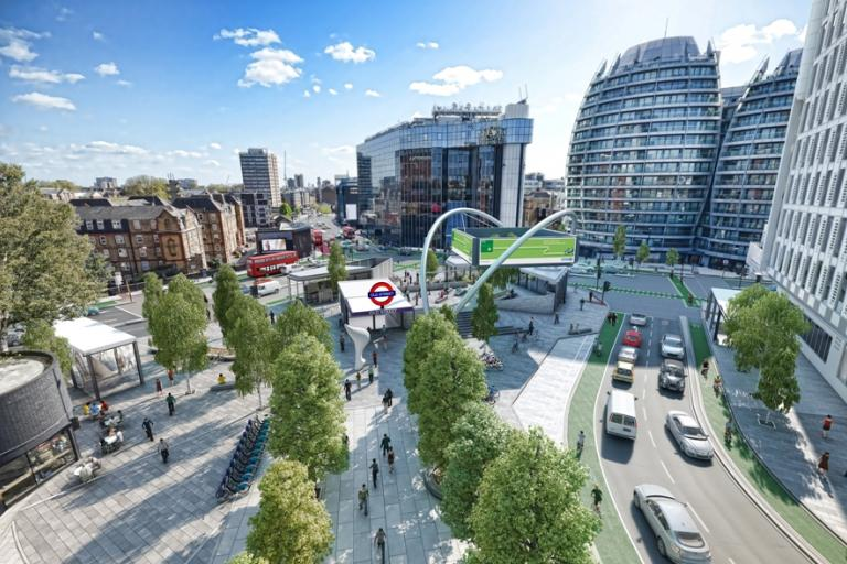 Old Street Roundabout redesign (source TfL)