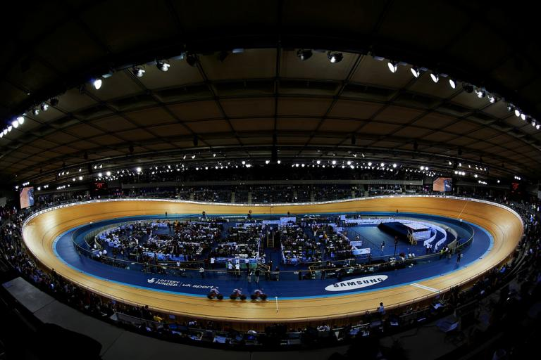 Olympic Velodrome during 2012 London TWC (copyright britishcycling.org.uk)