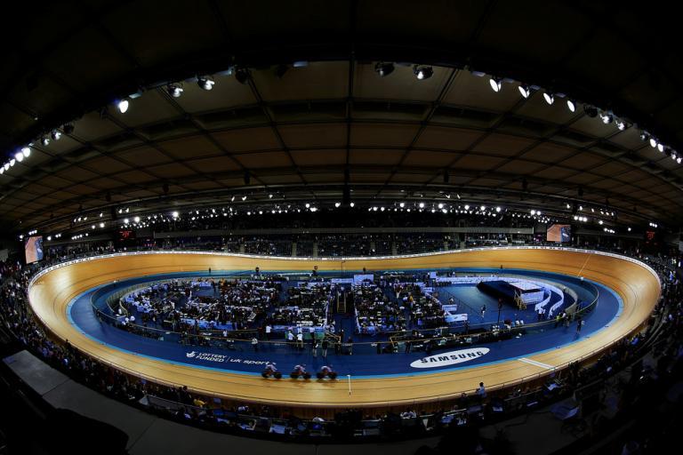 Olympic Velodrome during 2012 London TWC (copyright britishcycling.org.uk)